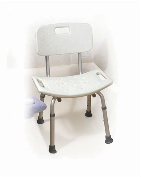 Bathroom Bench Height by Adjustable Height Bath Bench With Back World Of Mobility