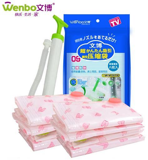 Plastik Vakum Kompresi 1pcs Vb70 wenbo vacuum plastic storage kantong penyimpan pakaian