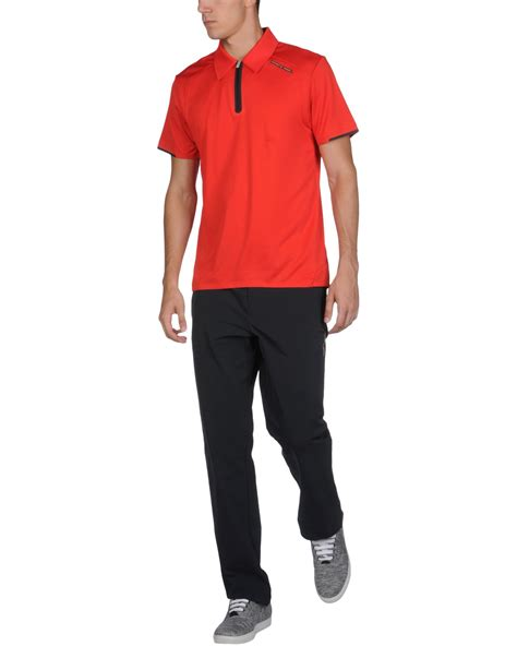 porsche design clothes uk porsche design polo shirt in red for men lyst