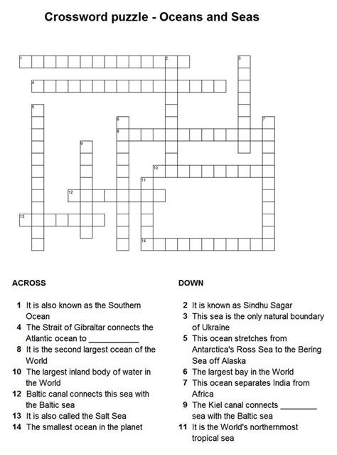 printable ocean puzzles puzzle on oceans and seas