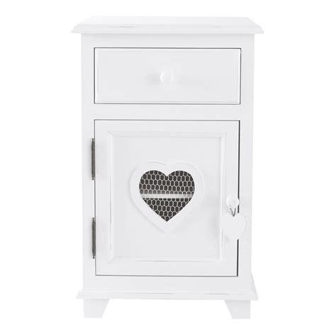 comodino bianco comodino bianco in legno con cassetto l 40 cm