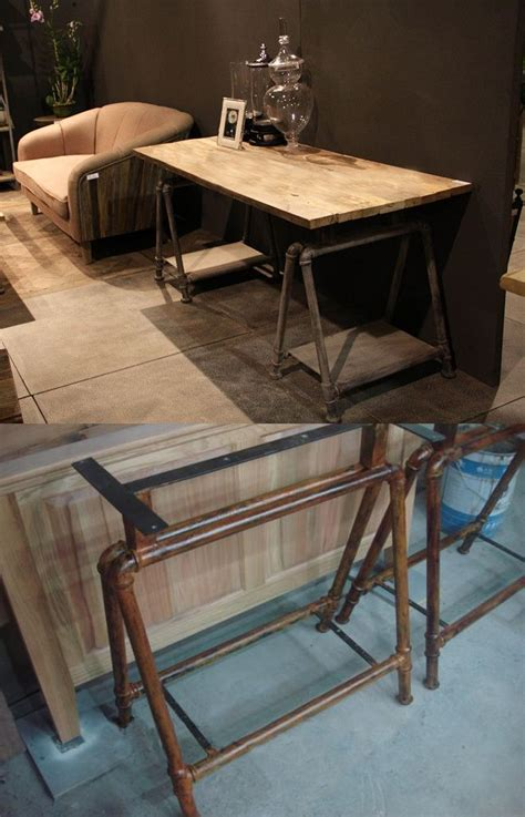 boys study table industrial study table with pipes legs would look great in
