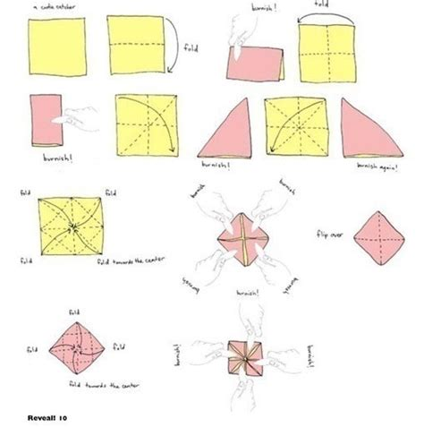 How To Fold An Origami Fortune Teller - cootie catcher 183 extract from magic books paper toys