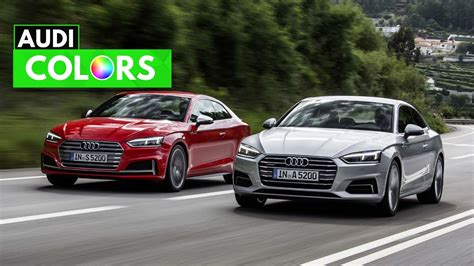 2018 audi a5 s5 coupe colors