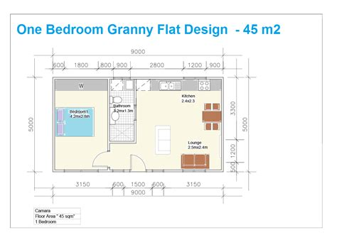 One Bedroom Granny Flat Floor Plans | granny flat building plans south africa with 1 bedroom