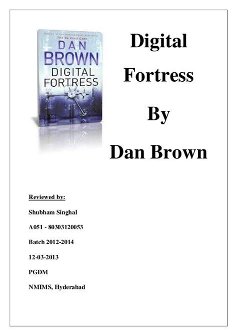 digital fortress series 1 digital fortress book review shubham