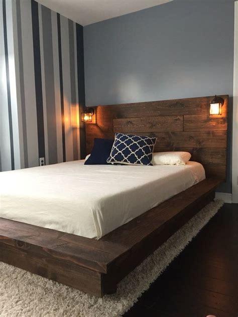 floating platform bed frame floating wood platform bed frame with lighted headboard