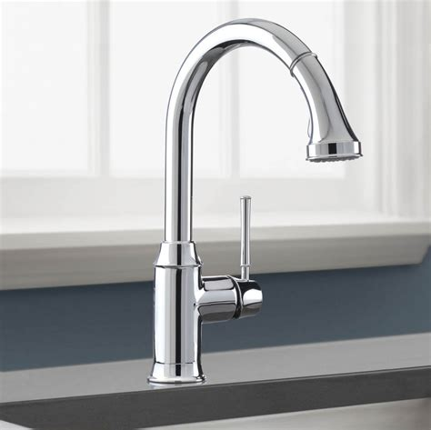 High Arc Kitchen Faucets hansgrohe 04215000 chrome talis c pull down kitchen faucet