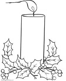 Free Christmas Coloring Pages  Candles sketch template