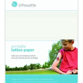 silhouette temporary tattoo paper temporary paper silhouette