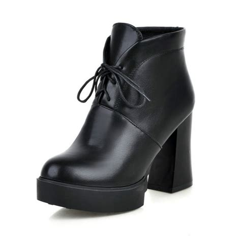 new 2016 boots lace up platform boots