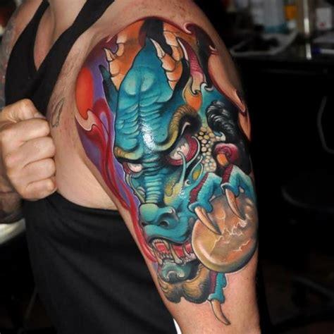 tatuaje hombro japoneses drag 243 n por rock tattoo