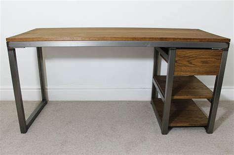 vintage industrial desk l vintage industrial office desks bespoke uk oak