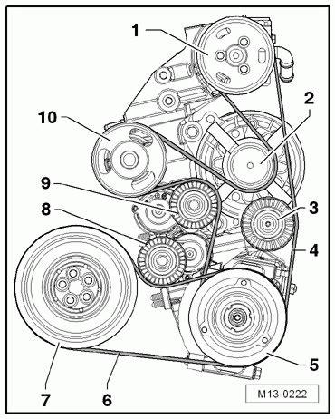 2008 Vw Beetle 2 5 Engine by 2006 Volkswagen Beetle 2 5l Serpentine Belt Diagram