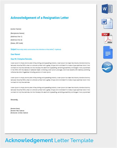 Acknowledgement Letter Product Sle Acknowledgement Of Service Form 22 Documents In Pdf Word