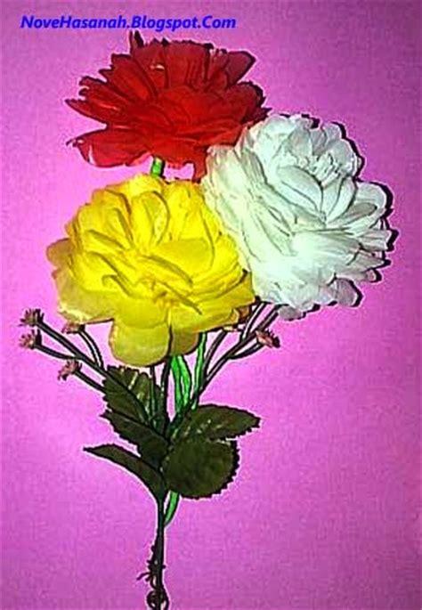 cara membuat bunga dari kertas plastik kresek cara membuat bunga dahlia dari kantong plastik bekas