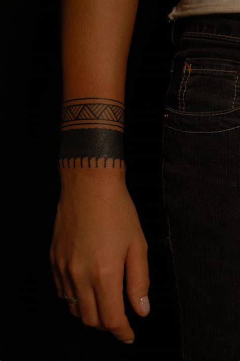 upper wrist tattoos arm band source ink