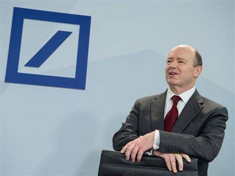 deutsche bank angebote deutsche bank chef cryan viele banker bekommen zu viel