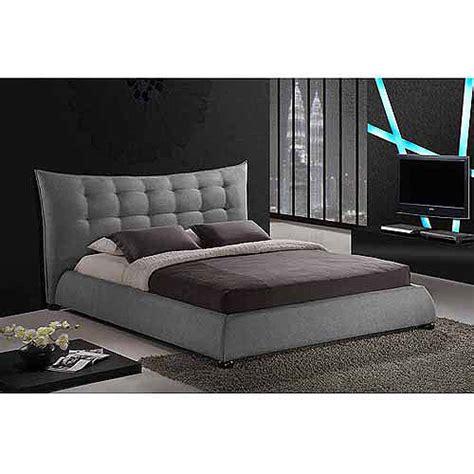 baxton studio king bed baxton studio marguerite linen king modern platform bed