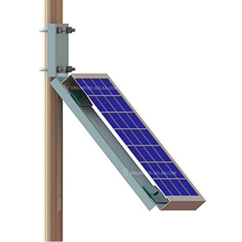 Wall L by Unlimited Solar Universal Solar Panel Side Of Pole Wall L