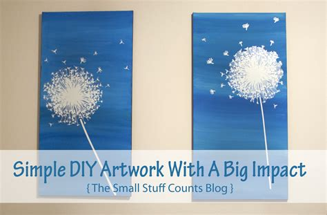 Decorating Ideas For A Small Living Room Simple Diy Artwork With A Big Impact Small Stuff Counts