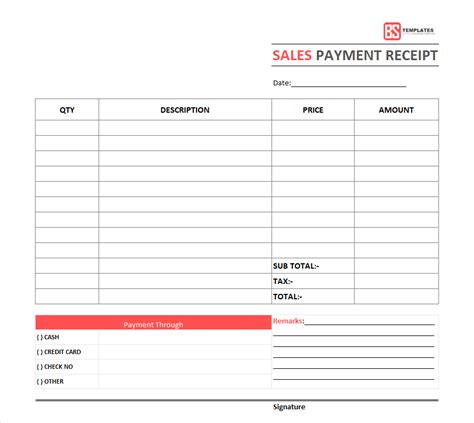 payment receipt template doc payment receipt template free simple word excel doc