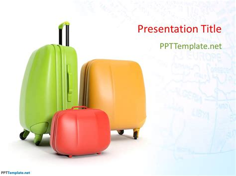 Free Travel Bags Ppt Template Microsoft Powerpoint Templates Travel