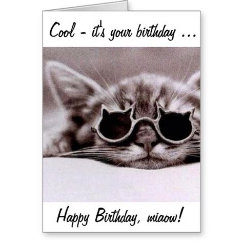 Cool Happy Birthday Cards This Cool Cat Wishes You A Happy Birthday Greeting Card