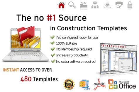 construction bid form template free on line online
