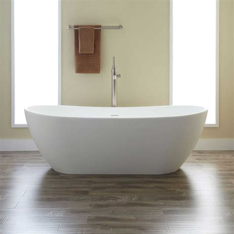 bathrooms with freestanding tubs winifred resin freestanding tub bathtubs bathroom