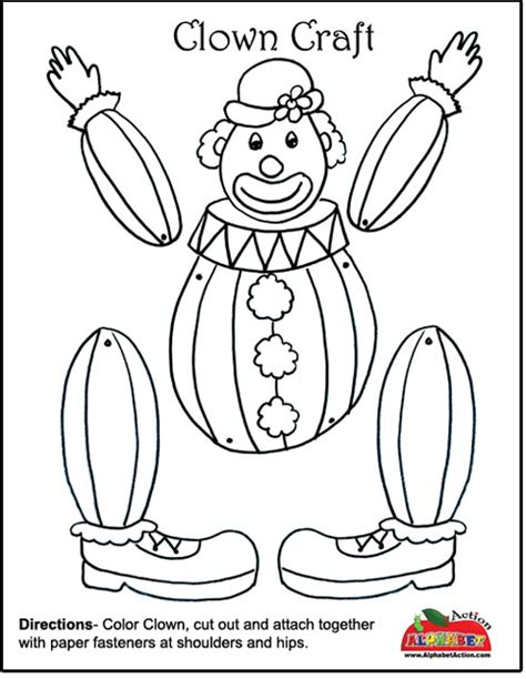 coloring crafts clown craft