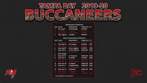 tampa bay buccaneers wallpaper schedule