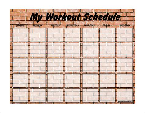 search results for free workout calendar exercise