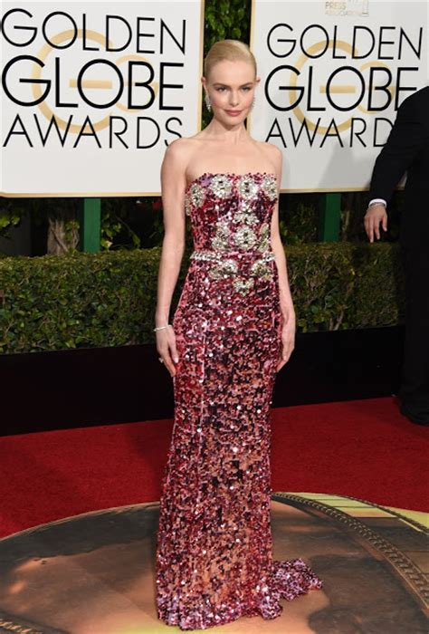 Catwalk To Carpet Kate Bosworth In Dolce Gabbana by Who Wore What 2016 Golden Globes Carpet Trend