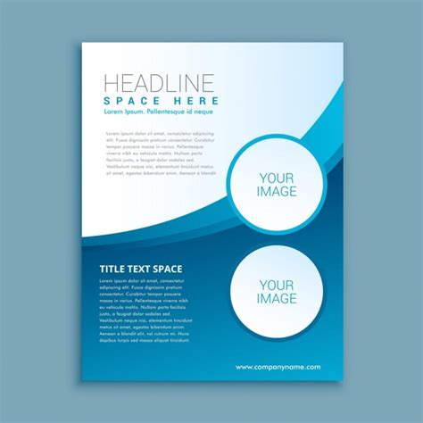 simple flyer with circles and wave vector free