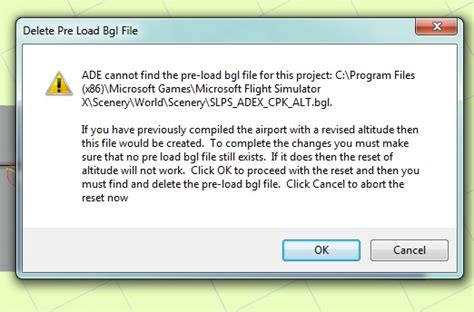 airport design editor error fsxa ade v01 65 5409 airport altitude reset errors