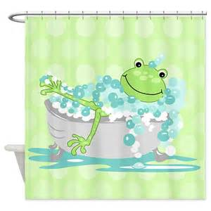 Pics photos fun frog shower curtain accesories by home trends ebay
