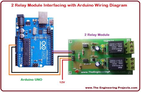 arduino relay wiring diagram wiring diagrams