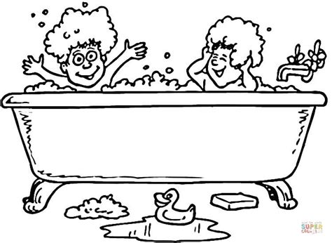 coloring page bathroom bath and rubber ducks coloring page free printable
