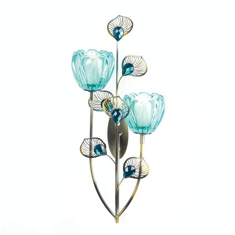peacock plume candle holder wholesale at koehler home decor peacock blossom duo cup sconce wholesale at koehler home decor