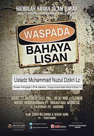 Buku Mengatasi Bahaya Lisan rangkuman isi ceramah al ustadz muhammad nuzul dzikri waspada bahaya lisan masjid habiburahman