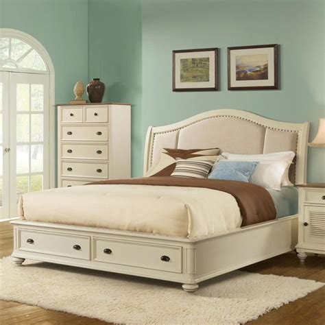 riverside coventry bedroom furniture coventry upholstered sleigh storage bed in dover white by