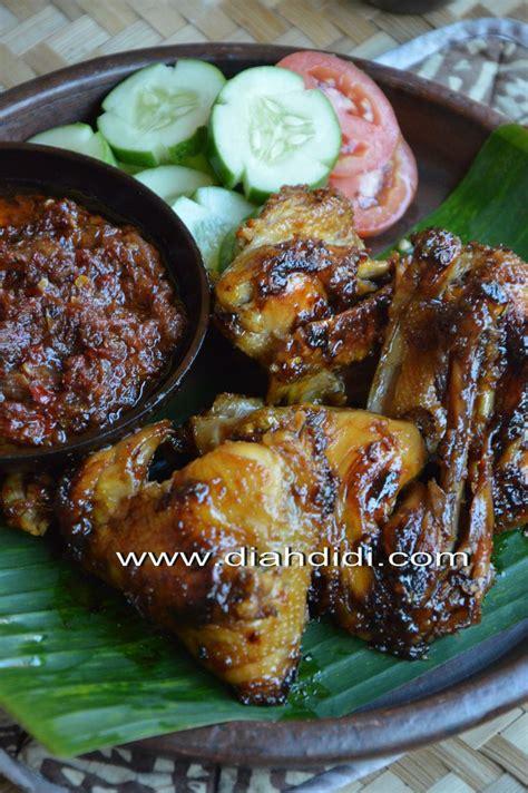diah didis kitchen ayam bakar bumbu bacem khas yogya