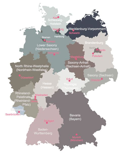germany state map maps of germany