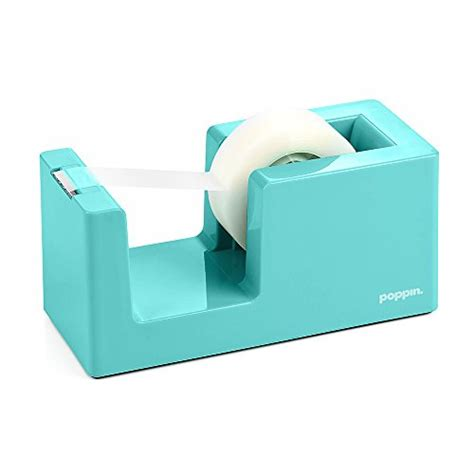 aqua blue desk accessories poppin office desk cute tape dispenser holder aqua
