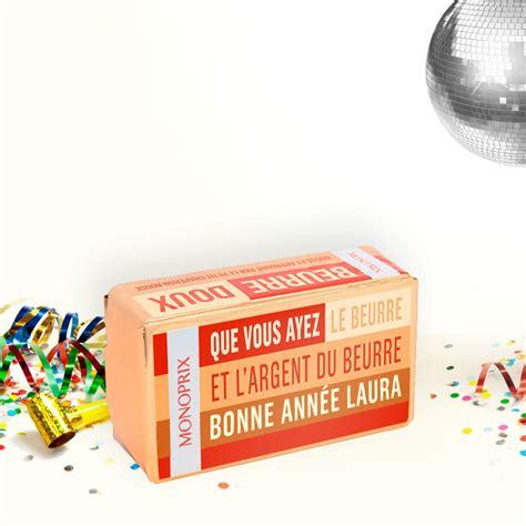 un packaging monoprix en guise de carte de vœux actus