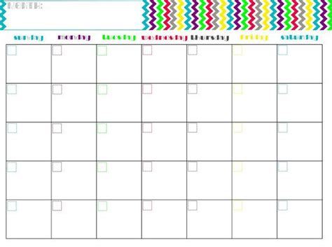 printable calendar etsy monthly calendar printable chevron by arodgersdesigns on