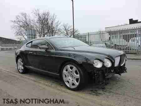 damaged bentley for sale bentley 2007 continental gt mulliner 6 0 auto black