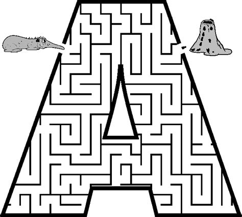 printable alphabet maze free coloring pages of mazes