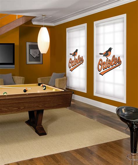 Orioles Bedroom Decor by Baltimore Orioles Window Roller Shades For Your Cave